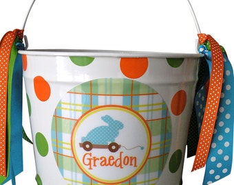 Custom 10 Quart Bucket with Polka Dots