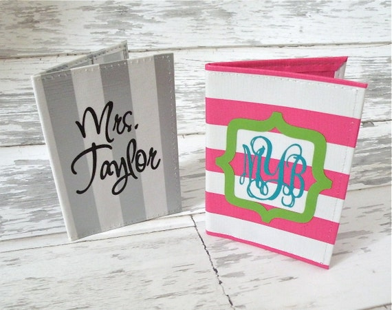 Personalized Passport Holder - More fabrics available