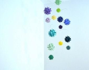 Nursery Crib Mobile Hanging Origami Spheres -'Andromeda'