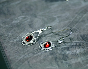 Sterling Silver Earrings Choice of Style Vampire Related