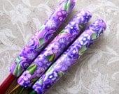 Crochet Hook Set, Purple Lovers, Polymer Clay, Susan Bates