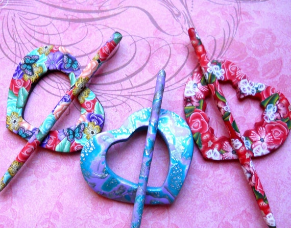 Shawl Pins - Three in a Set