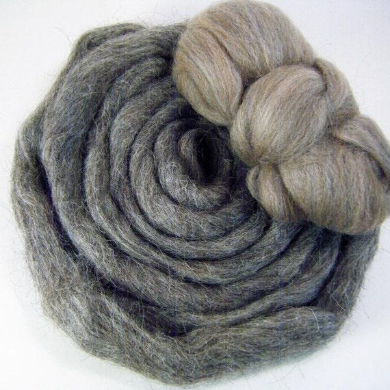Destash Undyed Natural Grey Wool Roving 1.75oz