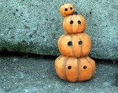 RESERVED stack o' jack o' lanterns