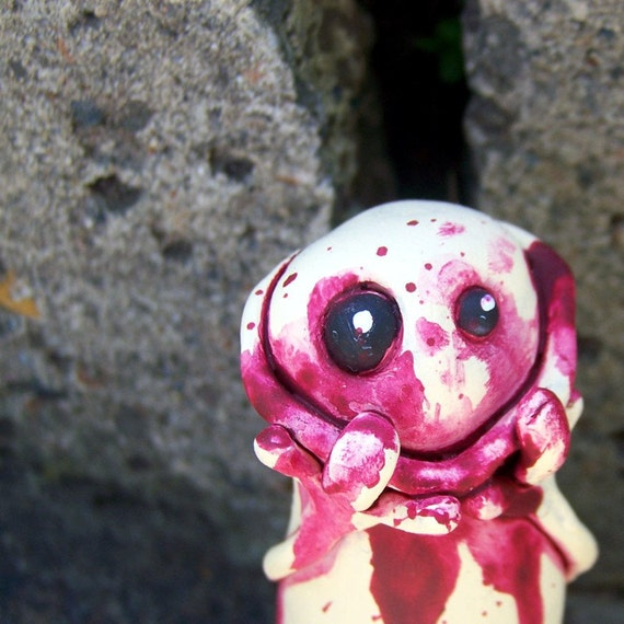 french, little bloody monster sculpture
