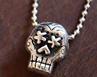 my Original Day of the Dead Whimsical Skull Necklace