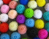 50 assorted 10mm mum cabochons, multicolor round floral itty bitty chrysanthemum flower cabs
