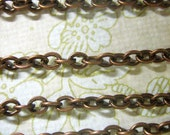 Antique copper plated cross chain, T040Y