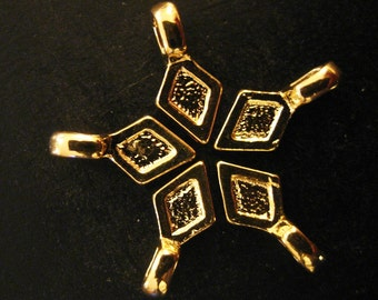glue on pendant bails, gold plated 16x8mm, pick your amount