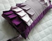 Lavender and Purple ruffle wristlet (X-Large)