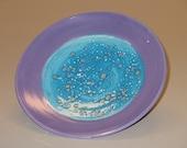 Starry Night Plate-Purple
