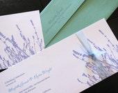 DIY Lavender Wedding Invitation  SAMPLE