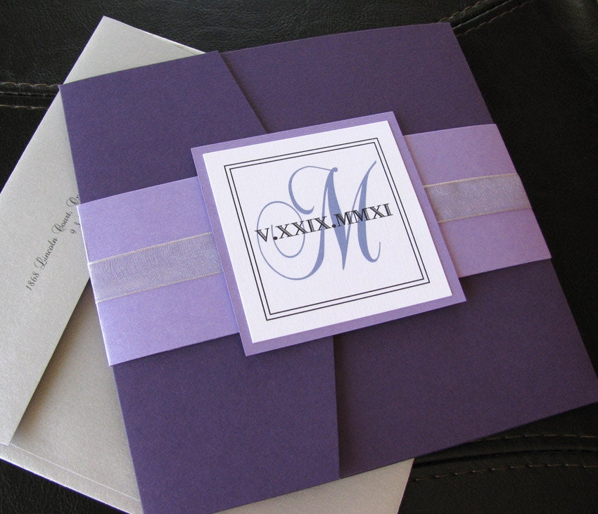 Purple And Silver Wedding Invitations: Unavailable Listing On Etsy