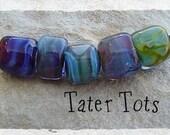Terra Tots 5 Lampwork Beads