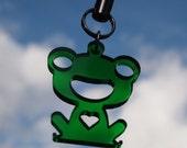 Lucky Frog Acrylic Charm
