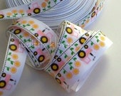 7/8 Inch Tractor Grosgrain Ribbon, 3 Yards, Hairbows, Crafts, Sewing, Trim, Scrapbooking