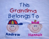 Priority Mail  Shipping Custom Personalized Grandma Mom Aunt Oma Nana Grandpa Papa Uncle T Shirt 2 Faces