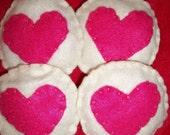 Pink Heart Toss Bean Bag