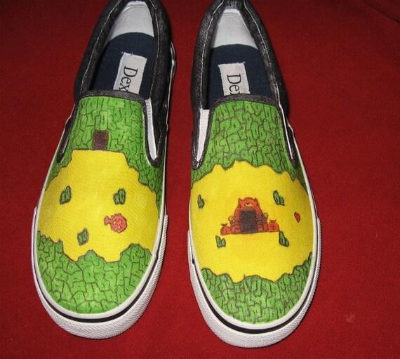 Old School Zelda shoes
