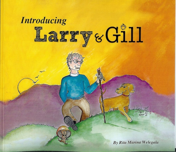 Introducing Larry & Gill -  Comic Strip Book - Graphic Novel - Original characters - First Edition