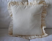 Tea Stained Ruffle Shabby Chic Pillow Case 16X16 Buy Any Two Get One  FOR FREE