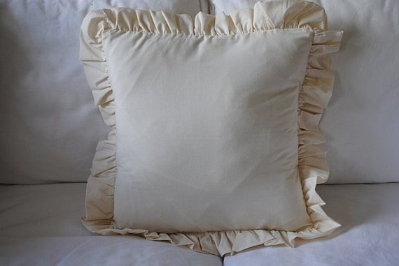 Shabby Chic Ruffle Pillows : Tea Stained Ruffle Shabby Chic Pillow Case 16X16 Buy Any Two