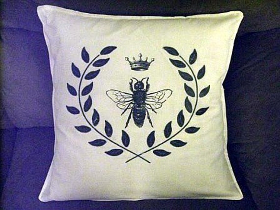 Queen Bee Shabby Chic Pillow Case 16x16