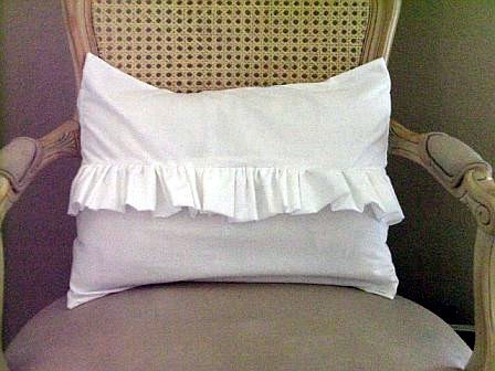 Shabby Chic White Ruffle Pillow Case 12x16