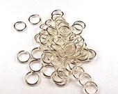 16 Gauge 6.5mm Sterling Silver Open Jump Rings