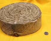 Lauhala belt , woven, Belting, ribbon 2 inch wide-small roll- woven lauhala, Tahitian costume supply