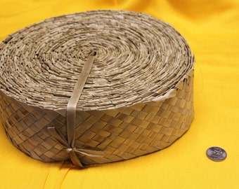 """3"""" wide Lauhala, woven, Belting, ribbon 3 inch wide, tahitian costume, Polynesian, costume supply, three inch wide"""