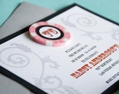 Las Vegas Poker Chip Save the Date - Design Fee