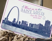 Vintage Skyline Postcard Save the Date (Saint Louis) - Design Fee