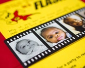 One Year Old in a Flash (A First Birthday Invitation) - Yellow and Red - Design Fee