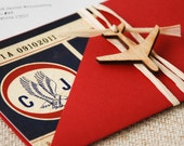 Vintage Air Mail Boarding Pass Invitation (Love is in the Air) - Design Fee