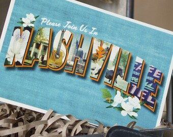 Vintage Large Letter Postcard Save the Date (Nashville) - Design Fee