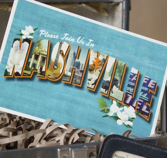 Vintage Large Letter Postcard Save the Date (Nashville) - Design Fee