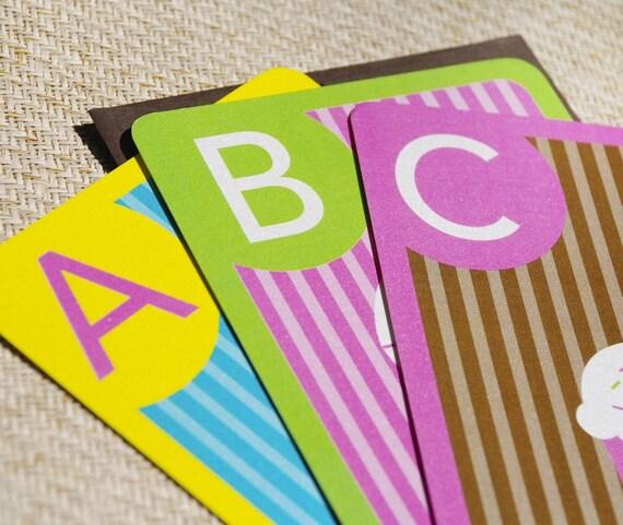 ABC Flash Cards Baby Shower Invitation - Design Fee