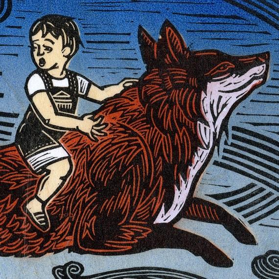 SALE Ride the Fox
