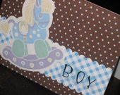 Rocking Horse Retro - baby card