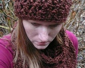 Beautiful Brown Hat and Scarf Set