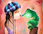 As You Know - limited edition fairy tale frog prince print by Bryan Collins