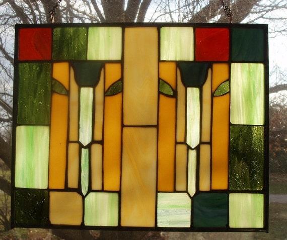 Items Similar To Craftsman Style Tulip Quilt Panel Big