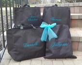Bride Tote Bag Bridesmaid - Set of 6 -
