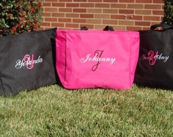 Bride Tote Bag Bridesmaid Totes - SET of 6 -