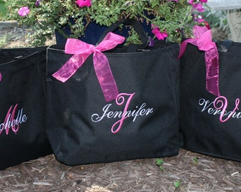 Personalized Monogrammed Totes - Set of 5 -