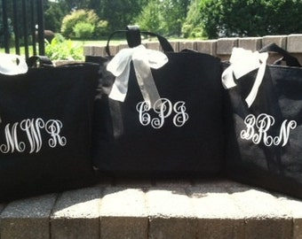 Bride Tote Bag Bridesmaid - Set of 8 -