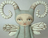 Monster-- Contemporary Folk Art Doll-- Zoee Bug-- Made to Order- LAST ONE