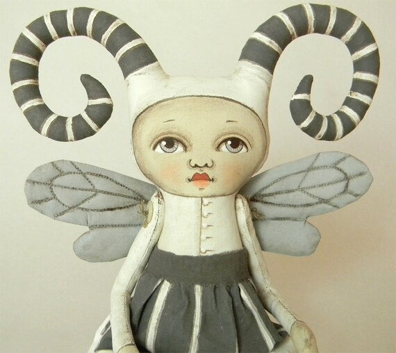 Fairy Monster-- Original Contemporary Folk Art Doll-- Made to order within a week