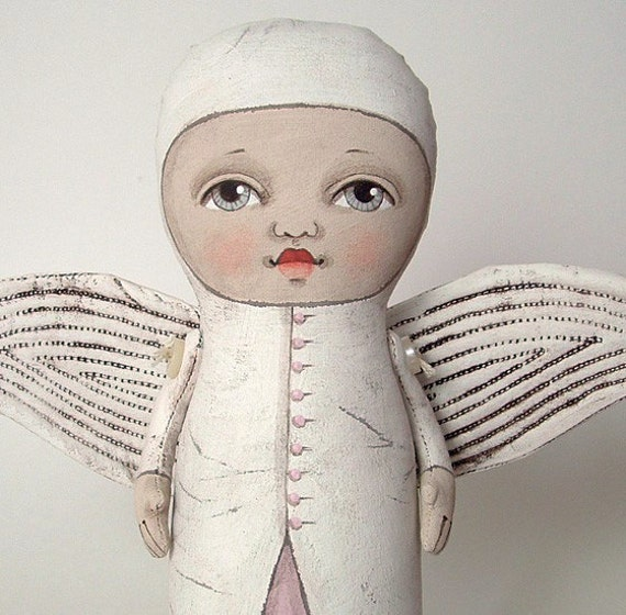 LAST ONE- Angel Original Contemporary Folk Art Doll- Custom made within a week
